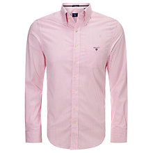 Buy Gant Regular Fit Poplin Banker Stripe Shirt, Rogue Pink Online at johnlewis.com