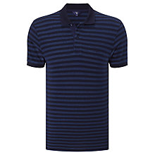 Buy Gant Oxford Stripe Pique Polo Shirt, Shadow Blue Online at johnlewis.com