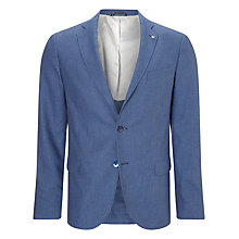 Buy Gant Cotton Linen Birdseye Blazer, Yale Blue Online at johnlewis.com