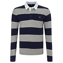 Buy Gant Original Bar Stripe Heavy Rugby Shirt Online at johnlewis.com