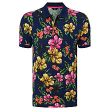Buy Gant Flower Pique Polo Shirt, Persian Blue Online at johnlewis.com