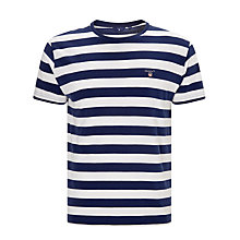 Buy Gant Bar Striped Crew Neck T-Shirt Online at johnlewis.com