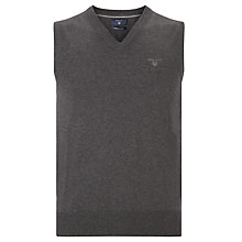 Buy Gant Lightweight Cotton Tank Top, Charcoal Online at johnlewis.com