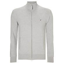 Buy Gant Stretch Cotton Zip Cardigan Online at johnlewis.com