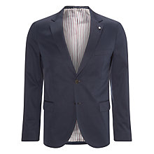 Buy Gant Cotton Twill Blazer, Navy Online at johnlewis.com