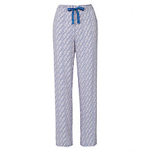 Buy Calvin Klein Eroded Geo Print Pyjama Pants, Blue/Lilac Online at johnlewis.com