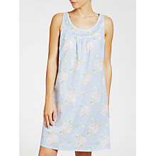 Buy John Lewis Garden Rose Chemise, Blue/Pink Online at johnlewis.com