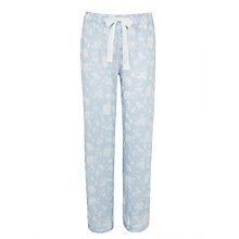 Buy John Lewis Japanese Floral Print Pyjama Pants, Blue/Ivory Online at johnlewis.com