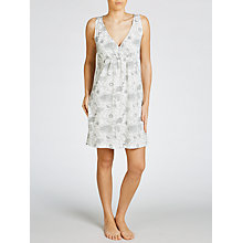 Buy John Lewis Botanical Print Chemise, Grey/White Online at johnlewis.com