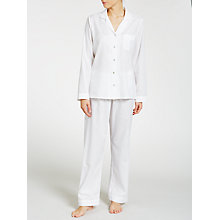 Buy John Lewis Shadow Stripe Pyjama Set, White Online at johnlewis.com