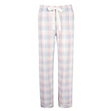 Buy John Lewis Garden Check Pyjama Pants, Pink/Blue Online at johnlewis.com