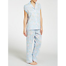 Buy John Lewis Garden Rose Short Sleeve Pyjama Set, Blue/Pink Online at johnlewis.com