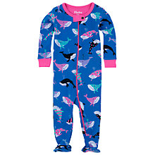 Buy Hatley Baby Whale Sleepsuit, Blue Online at johnlewis.com