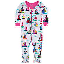 Buy Hatley Baby Sailing Boat Sleepsuit, Cream/Pink Online at johnlewis.com