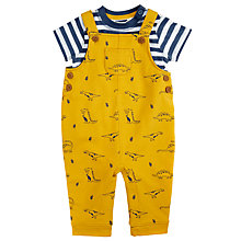 Buy John Lewis Baby Dinosaur Dungaree Set, Yellow/Blue Online at johnlewis.com