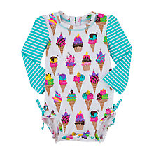 Buy Hatley Baby Ice Cream Swimsuit, Cream/Multi Online at johnlewis.com