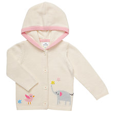 Buy John Lewis Baby Hooded Elephant Cardigan, Cream Online at johnlewis.com