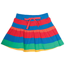 Buy Frugi Organic Baby Rainbow Stripe Skort, Multi Online at johnlewis.com