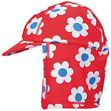Buy Frugi Organic Baby Legionnaire Swim Hat, Red/Blue Online at johnlewis.com