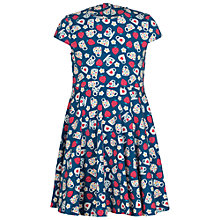 Buy Frugi Organic Girls' Skater Tea Cup Dress, Blue Online at johnlewis.com