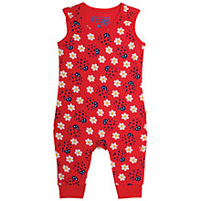 Buy Frugi Organic Baby Kneepatch Ladybird Dungarees, Red Online at johnlewis.com