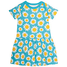 Buy Frugi Organic Baby Aria Daisy Bodysuit Dress, Blue/White Online at johnlewis.com