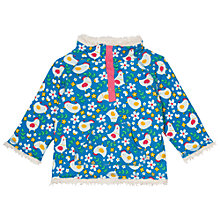 Buy Frugi Organic Baby Chick Reversible Snuggle Fleece, Blue/White Online at johnlewis.com