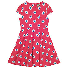 Buy Frugi Organic Girls' Flower Print Skater Dress, Pink Online at johnlewis.com