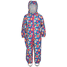 Buy Frugi Organic Baby Puddle Buster Flower Print Waterproof Suit, Blue/Multi Online at johnlewis.com