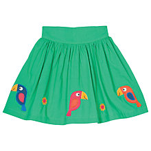 Buy Frugi Organic Girls' St Mawes Parrot Skirt, Green Online at johnlewis.com