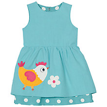 Buy Frugi Organic Baby Lamorna Chick Reversible Dress, Blue Online at johnlewis.com