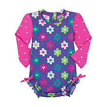 Buy Hatley Baby Flower Print Swimsuit, Blue Online at johnlewis.com