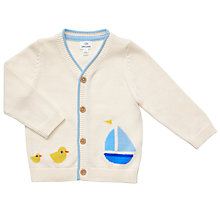 Buy John Lewis Baby Boat Cardigan, Cream Online at johnlewis.com