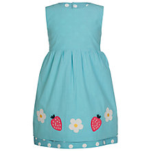 Buy Frugi Organic Girls' Lamorna Reversibe Dress, Blue/White Online at johnlewis.com