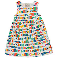 Buy Frugi Organic Girls' Fish Print Dress, Multi Online at johnlewis.com