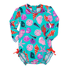 Buy Hatley Baby Seashell Swimsuit, Teal Online at johnlewis.com