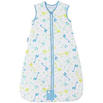 Grobag Little Dino Baby Sleep Bag, 1 Tog, Blue
