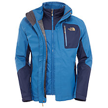 Buy The North Face Zenith 3-in-1 Triclimate Waterproof Men's Jacket, Blue Online at johnlewis.com