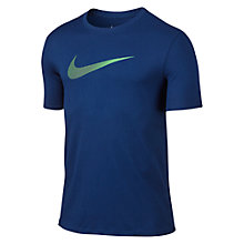 Buy Nike Swoosh T-Shirt, Blue Online at johnlewis.com