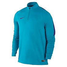 Buy Nike Ignite Midlayer Half Zip Top, Blue Lagoon/Court Purple Online at johnlewis.com