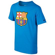 Buy Nike Children's Barcelona F.C. Football T-Shirt, Blue Online at johnlewis.com