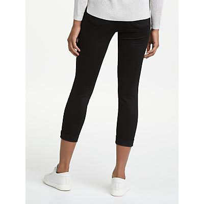 J Brand Anja Luxe Sateen Skinny Jeans, Black
