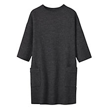 Buy Toast Boiled Wool Tunic, Charcoal Online at johnlewis.com
