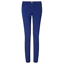 Buy J Brand Mid Rise Cropped Rail Jeans, Blue Print Online at johnlewis.com