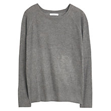 Buy Mango Fine Knit Jumper, Medium Grey Online at johnlewis.com