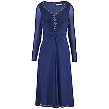 Buy Gina Bacconi Mesh Dress With Beaded Neckline, Autumn Navy Online at johnlewis.com