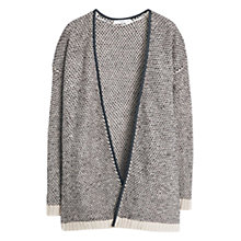 Buy Mango Textured Knit Cardigan, Beige Online at johnlewis.com