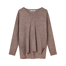Buy Gerard Darel Bocca Casmere V-Neck Jumper, Beige Online at johnlewis.com
