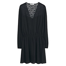Buy Mango Lace Panel Dress, Black Online at johnlewis.com