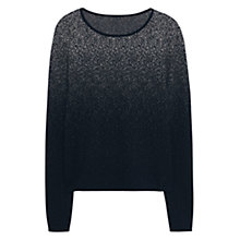 Buy Mango Ombre Cotton Sweater, Black Online at johnlewis.com